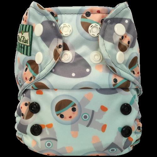 Mini Kiwi One Size Pocket Diaper -  Astronaut