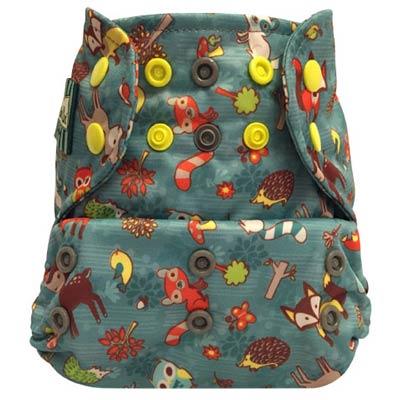Mini Kiwi One Size Pocket Diaper -   Forest Friends Green