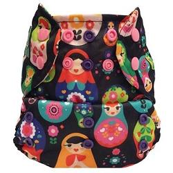 Mini Kiwi One Size Pocket Diaper -   Russian Dolls