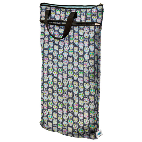 planet wise hanging wet/dry bag - Carnival Skulls
