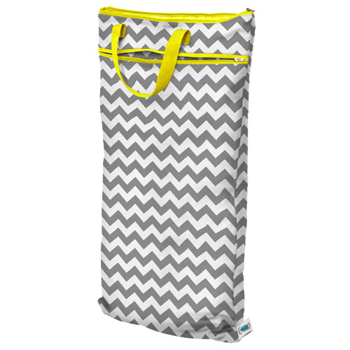 planet wise hanging wet/dry bag - gray chevron
