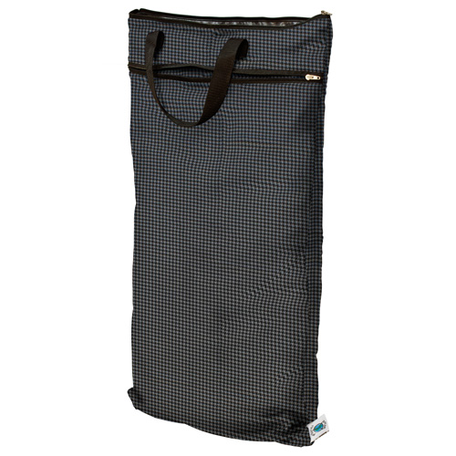 planet wise hanging wet/dry bag -  grey houndstooth