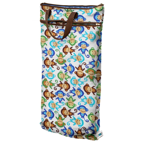 planet wise hanging wet/dry bag - Monkey Fun