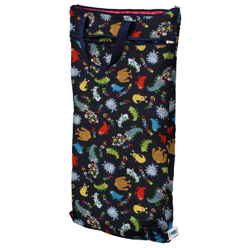 planet wise hanging wet/dry bag - Monster Mash