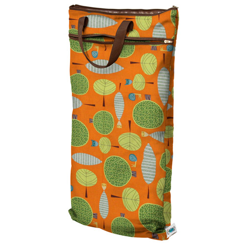 planet wise hanging wet/dry bag -Orange Woods