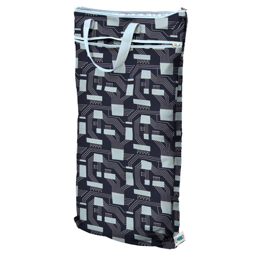 planet wise hanging wet/dry bag -  Organic Navy Circuits