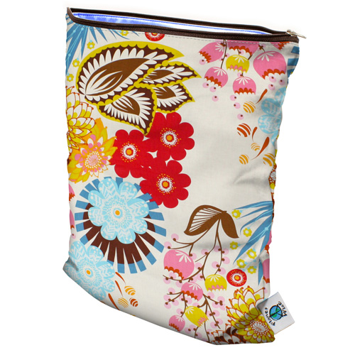 planet wise wet bag - april flowers