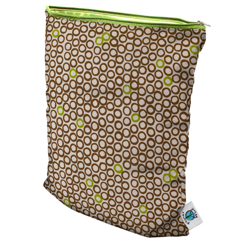 planet wise wet bag -  Lime Cocoa Bean