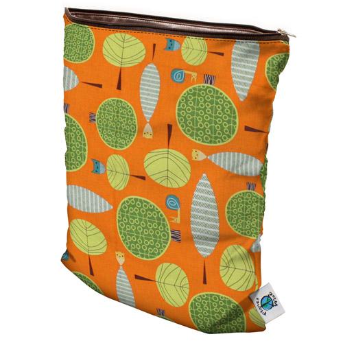 planet wise wet bag -  Orange Woods