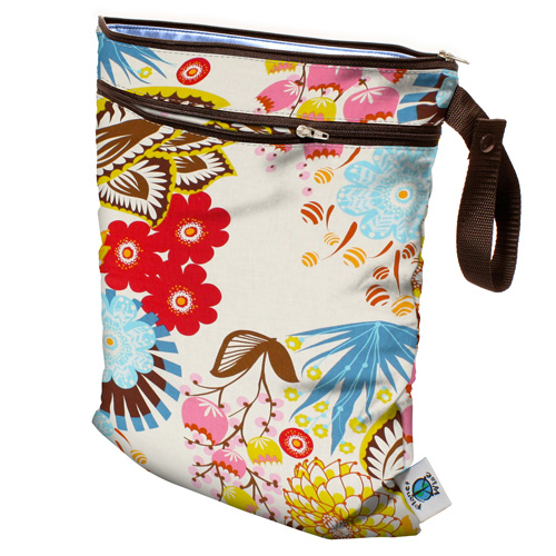 planet wise wet/dry bag - April Flowers