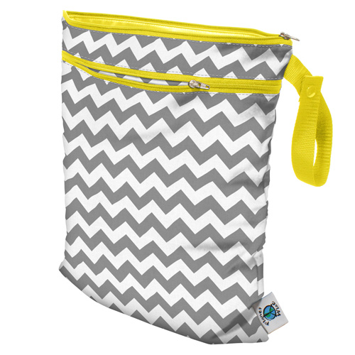 planet wise wet/dry bag - Gray Chevron