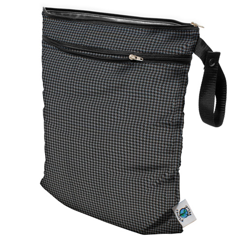 planet wise wet/dry bag - Gray Houndstooth