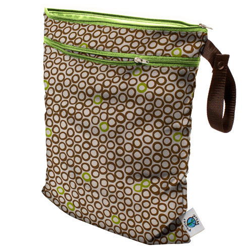 planet wise wet/dry bag - LimeCocoaBean