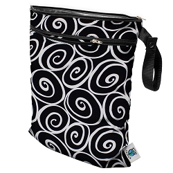 planet wise wet/dry bag - Midnight Curl