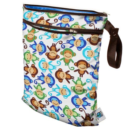 planet wise wet/dry bag - Monkey Fun