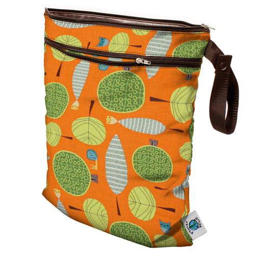planet wise wet/dry bag - Orange Woods