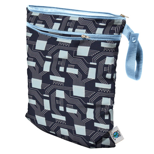 planet wise wet/dry bag - Organic Navy Circuits