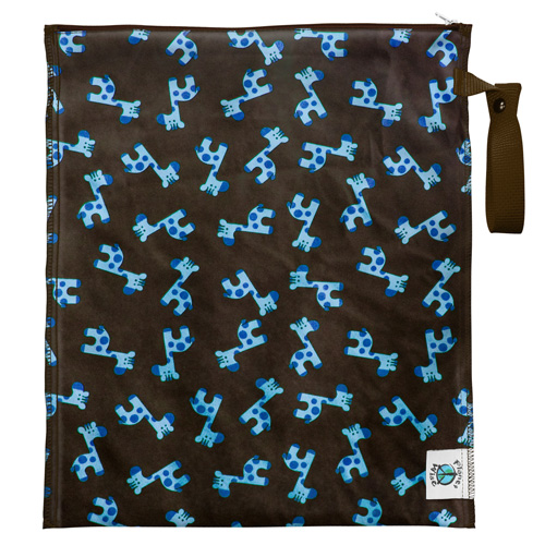 planet wise LITE wet bag - Blue Giraffe