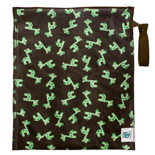 planet wise LITE wet bag - Green Giraffe
