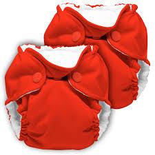 kanga care lil joey newborn diaper - Crimson