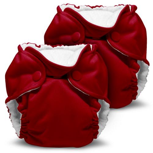 kanga care lil joey newborn diaper - Scarlet