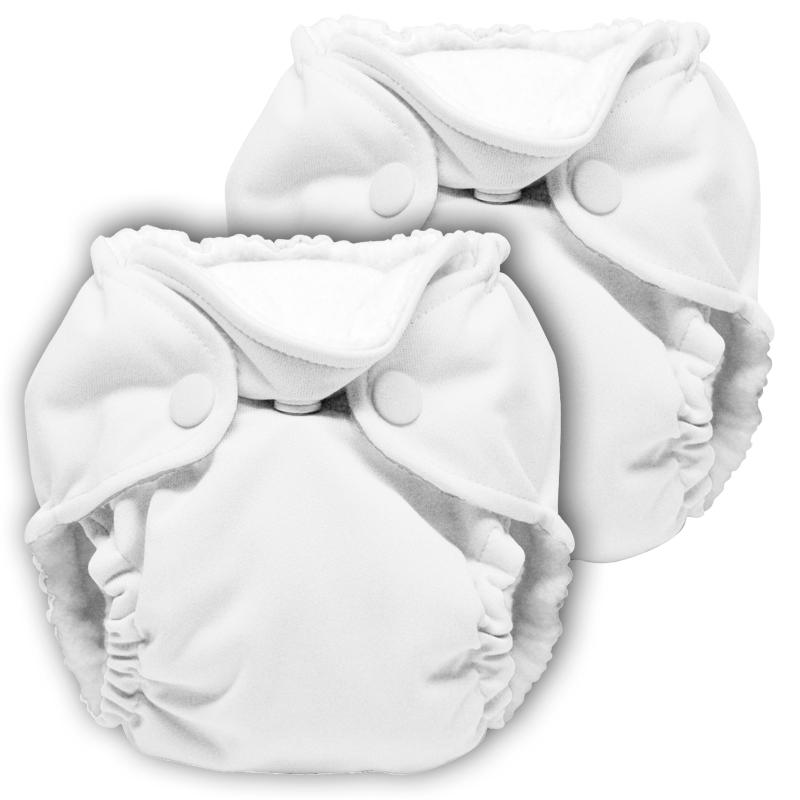 kanga care lil joey newborn diaper - white