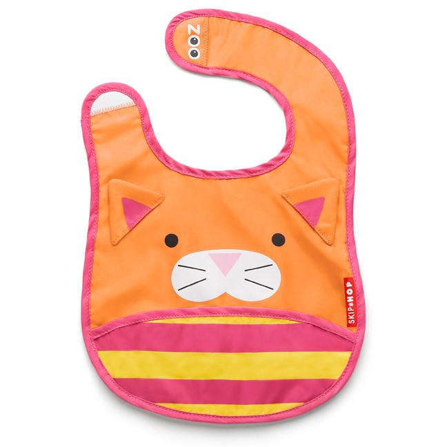 Skip Hop zoo tuck away bib - cat
