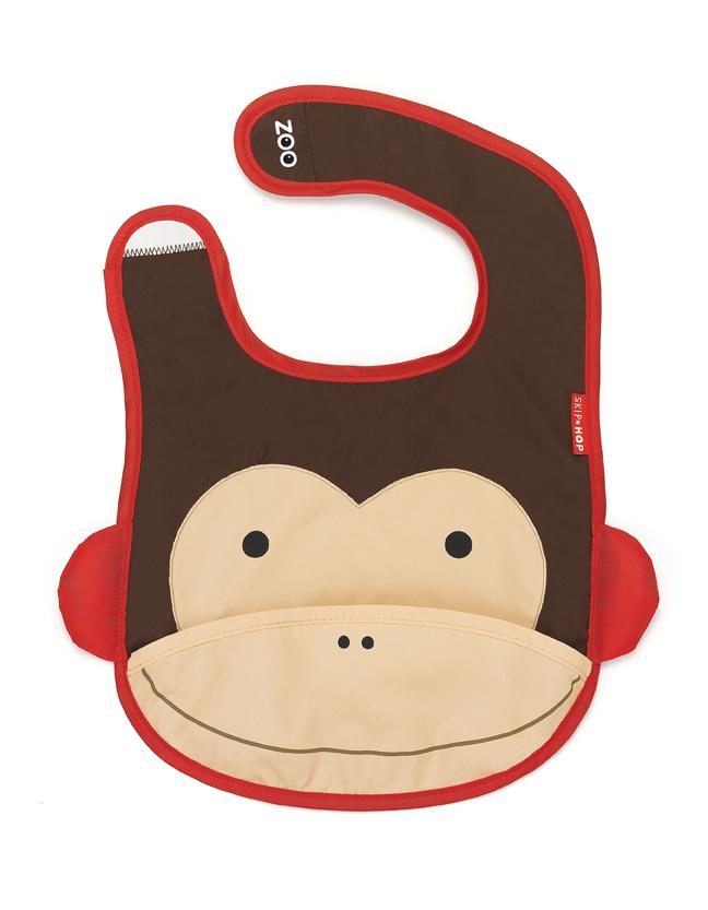 Skip Hop zoo tuck away bib - Monkey