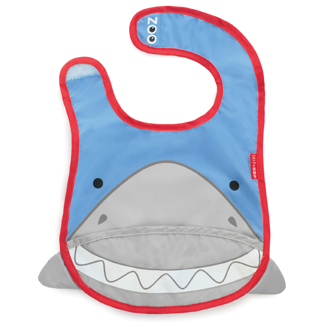 Skip Hop zoo tuck away bib - Shark