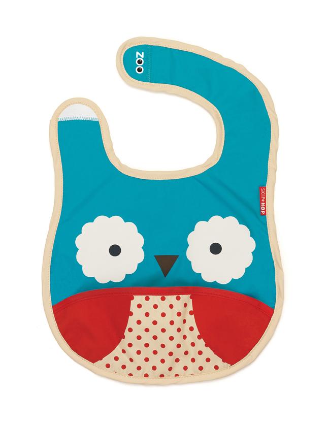 Skip Hop zoo tuck away bib - owl