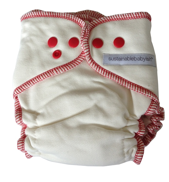 Sloomb Overnight Bamboo Fleece Fitted Cloth Diaper- Bing