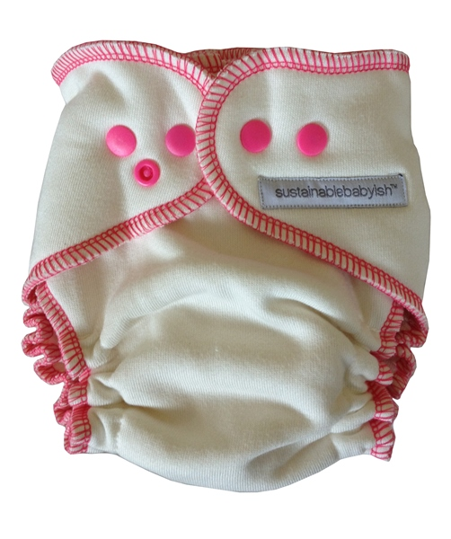 Sloomb Overnight Bamboo Fleece Fitted Cloth Diaper- Kirsche