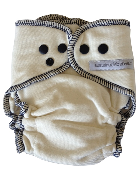 Sloomb Overnight Bamboo Fleece Fitted Cloth Diaper- Peacoat