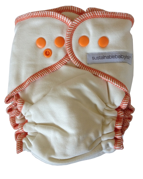 Sloomb Overnight Bamboo Fleece Fitted Cloth Diaper- Squash