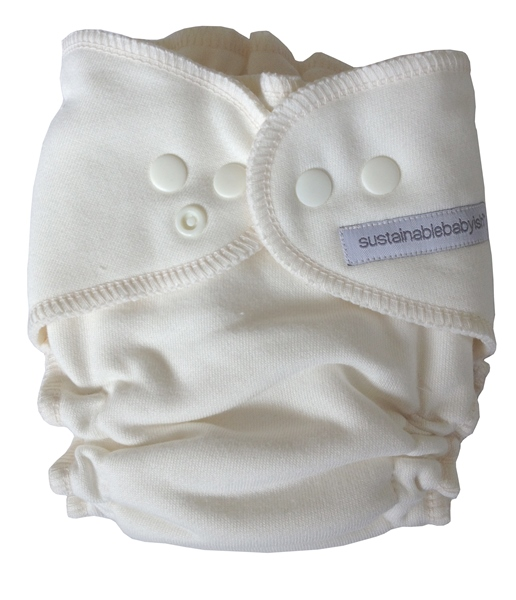 Sloomb Overnight Bamboo Fleece Fitted Cloth Diaper- Natural