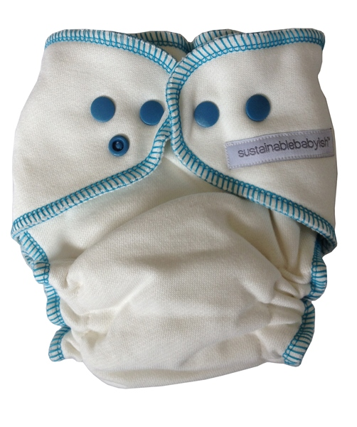 Sloomb Overnight Bamboo Fleece Fitted Cloth Diaper- teal