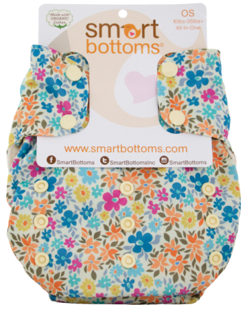 smart bottoms 3.1 organic one size all in one cloth diaper - Charlotte