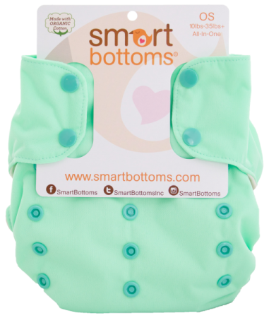 smart bottoms 3.1 organic one size all in one cloth diaper - Dublin