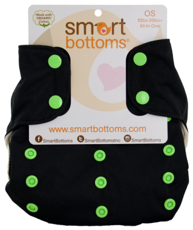 smart bottoms 3.1 organic one size all in one cloth diaper - Electric