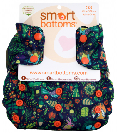 smart bottoms 3.1 organic one size all in one cloth diaper - Enchanted