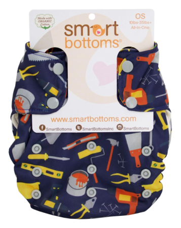 smart bottoms 3.1 organic one size all in one cloth diaper -  Fixer Upper