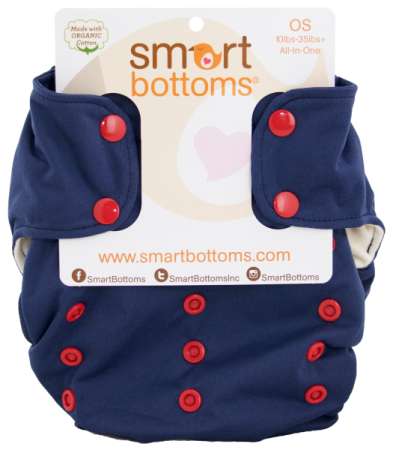 smart bottoms 3.1 organic one size all in one cloth diaper - George