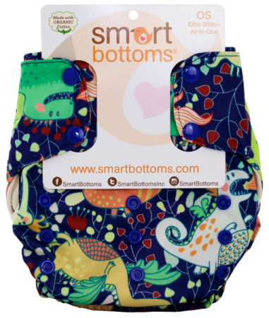 smart bottoms 3.1 organic one size all in one cloth diaper - Heinrich