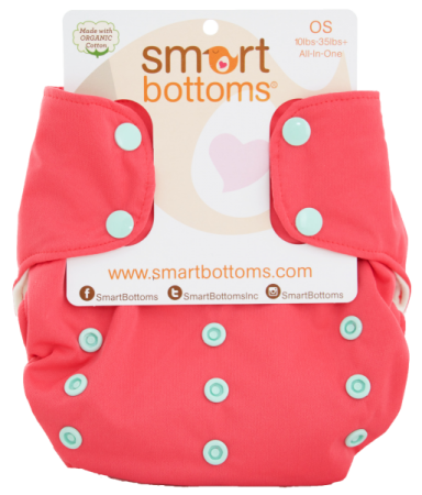 smart bottoms 3.1 organic one size all in one cloth diaper - Juliet