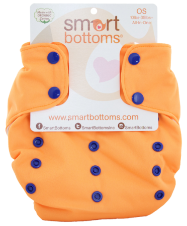 smart bottoms 3.1 organic one size all in one cloth diaper -  Major League