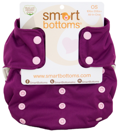 smart bottoms 3.1 organic one size all in one cloth diaper - Mia