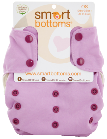 smart bottoms 3.1 organic one size all in one cloth diaper - Orchid
