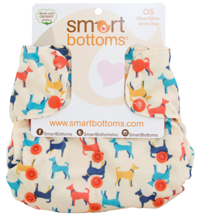 smart bottoms 3.1 organic one size all in one cloth diaper - Rover