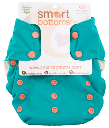 smart bottoms 3.1 organic one size all in one cloth diaper -  Spicy Tuna