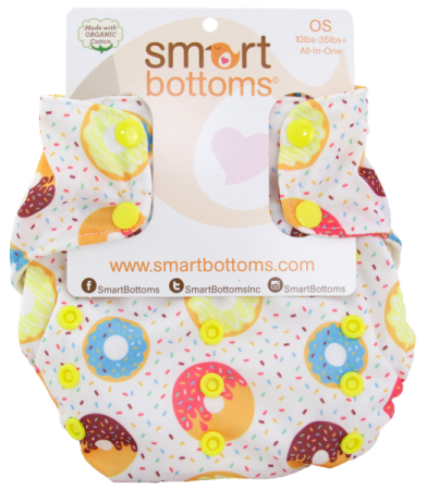 smart bottoms 3.1 organic one size all in one cloth diaper -  Sprinkles